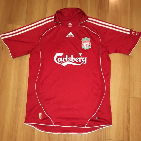 new styles c4e10 60967 ADIDAS Liverpool Football Club CARLSBERG Jersey M